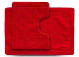 Набор ковриков ECONOM, Ажур, красный