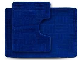 Набор ковриков ECONOM, Макраме, синий