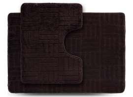Набор ковриков ECONOM, Макраме, коричневый