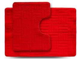 Набор ковриков ECONOM, Макраме, красный