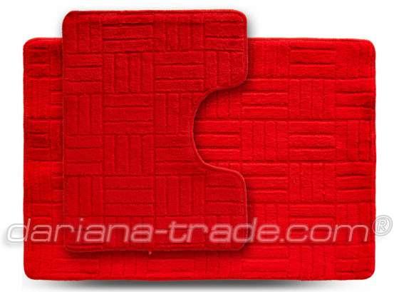 Набір килимків ECONOM, Макраме, червоний