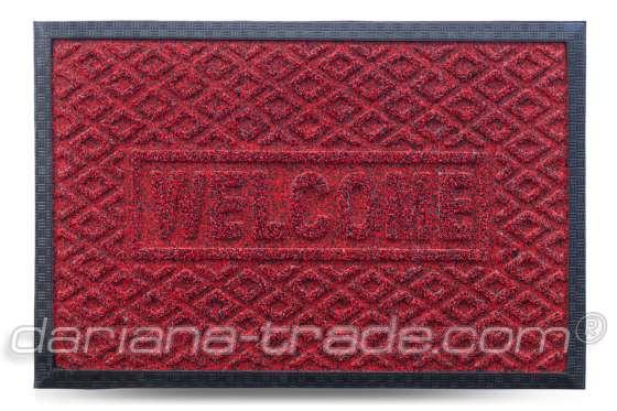 Коврик придверный Grass, красный, 40х60 см