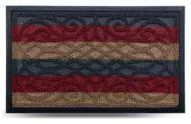 Коврик придверный Grass, комби красный, 45х75 см