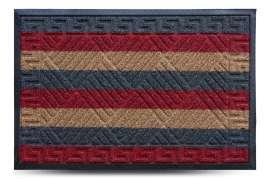 Коврик придверный Grass, комби красный, 60x90 см