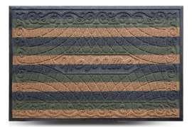Коврик придверный Grass, комби зелёный, 80x120 см