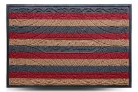 Коврик придверный Grass, комби красный, 80x120 см