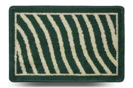 Коврик «Хвиля», зелёный, 40x60 см