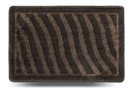 Коврик «Хвиля», серый, 40x60 см