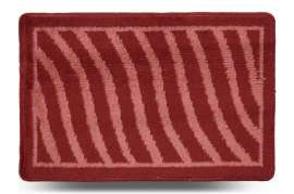 Коврик «Хвиля», красный, 40x60 см