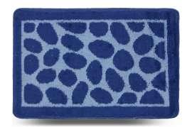 Коврик «Камни», синий, 40x60 см