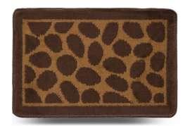 Коврик «Камни», коричневый, 40x60 см