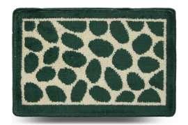 Коврик «Камни», зелёный, 40x60 см