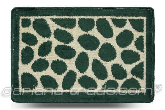 Килимок Каміння, зелений, 40x60 см