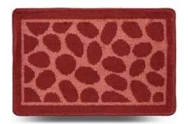 Коврик «Камни», красный, 40x60 см