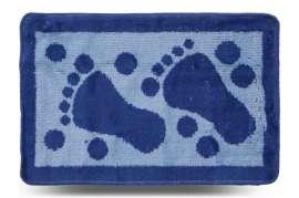 Коврик «Лапки», синий, 40x60 см