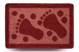 Коврик «Лапки», красный, 40x60 см