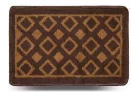 Коврик «Плитка», коричневый, 40x60 см