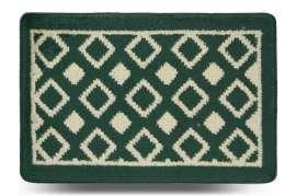 Коврик «Плитка», зелёный, 40x60 см