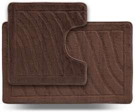 Набор ковриков LITTLE «Хвиля», коричневый
