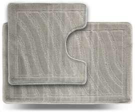 Набор ковриков LITTLE «Хвиля», серый