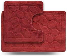 Набор ковриков LITTLE «Камни», красный