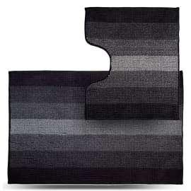 Набор ковриков Махрамат, чёрный ТС