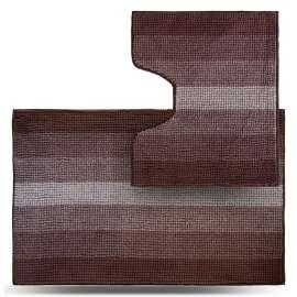 Набор ковриков Махрамат, шоколадный ТС