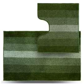Набор ковриков Махрамат, зелёный ТС
