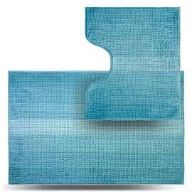 Набор ковриков Махрамат, голубой ТС