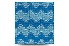 Коврик Волна, голубой, 55х50 см