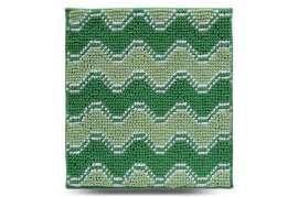 Коврик Волна, зелёный, 55х50 см