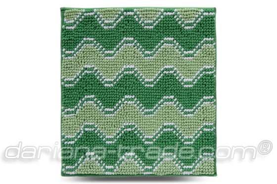 Килимок Хвиля, зелений, 55х50 см