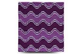 Коврик Волна, фиолетовый, 55х50 см