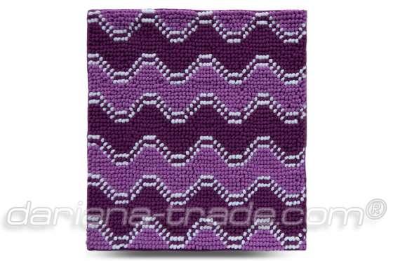 Килимок Хвиля, фіолетовий, 55х50 см