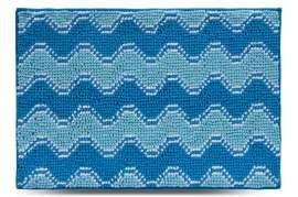 Коврик Волна, голубой, 55х80 см