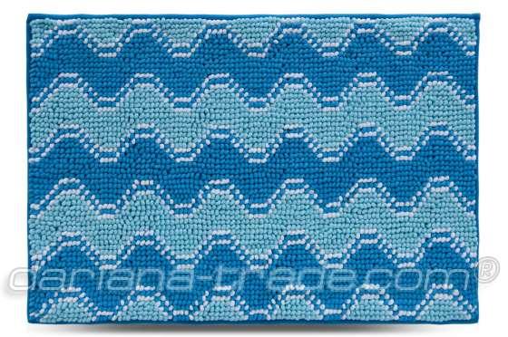 Килимок Хвиля, блакитний, 55х80 см