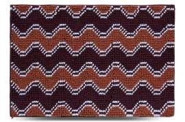 Коврик Волна, коричневый, 55х80 см