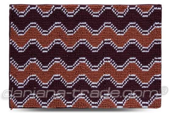 Килимок Хвиля, коричневий, 55х80 см