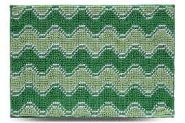 Коврик Волна, зелёный, 55х80 см
