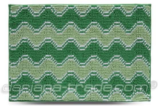 Килимок Хвиля, зелений, 55х80 см
