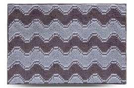 Коврик Волна, серый, 55х80 см