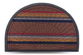 Коврик придверный Multicolor, цвет 1, 40х60 см, полукруг