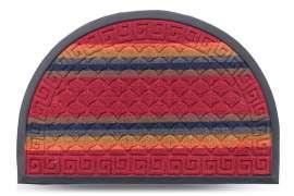 Коврик придверный Multicolor, цвет 2, 40х60 см, полукруг