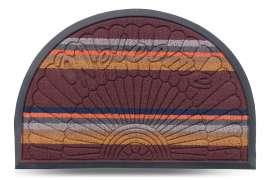 Коврик придверный Multicolor, цвет 3, 40х60 см, полукруг