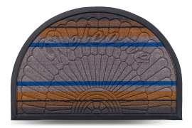 Коврик придверный Multicolor, цвет 6, 40х60 см, полукруг