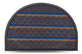 Коврик придверный Multicolor, цвет 7, 40х60 см, полукруг