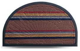 Коврик придверный Multicolor, цвет 1, 45х75 см, полукруг