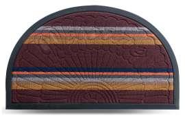 Коврик придверный Multicolor, цвет 3, 45х75 см, полукруг
