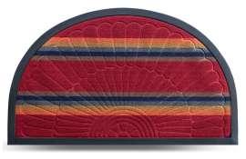 Коврик придверный Multicolor, цвет 2, 45х75 см, полукруг