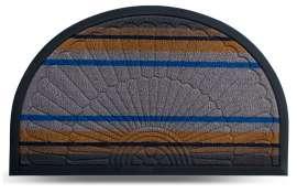 Коврик придверный Multicolor, цвет 6, 45х75 см, полукруг